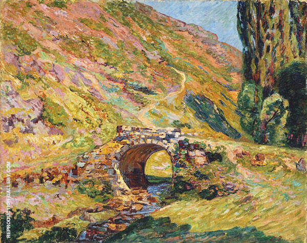 Bridge in the Mountains By Armand Guillaumin Replica Paintings on Canvas - Reproduction Gallery