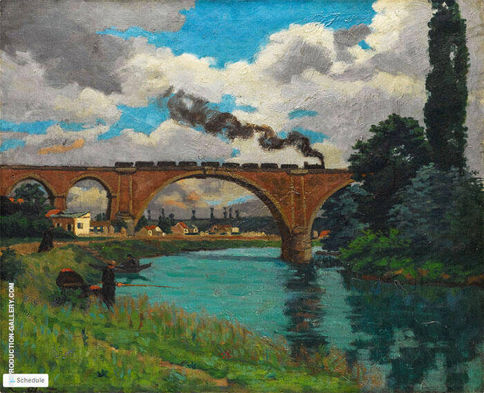 Bridge over the Marine at Joinville By Armand Guillaumin Replica Paintings on Canvas - Reproduction Gallery