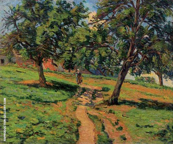 Chemin a Damiette Painting By Armand Guillaumin - Reproduction Gallery