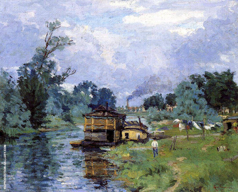 Cotes de Fleuve 1880 By Armand Guillaumin Replica Paintings on Canvas - Reproduction Gallery