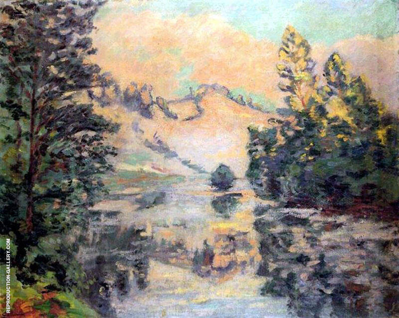 Landscape Creuse 1897 By Armand Guillaumin Replica Paintings on Canvas - Reproduction Gallery