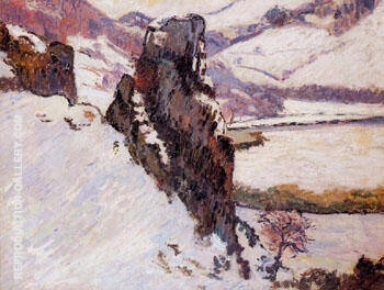 Creuse in the Snow By Armand Guillaumin Replica Paintings on Canvas - Reproduction Gallery