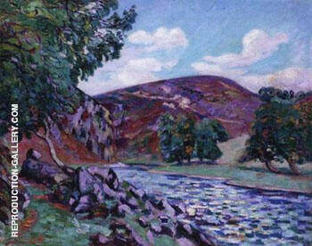 Crozant Landscape By Armand Guillaumin Replica Paintings on Canvas - Reproduction Gallery