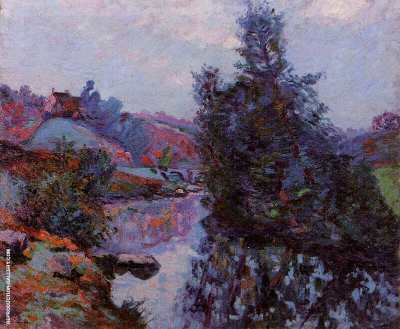 Crozant the Bouchardon Mill By Armand Guillaumin Replica Paintings on Canvas - Reproduction Gallery