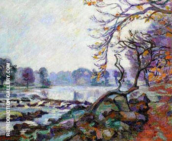 Dam at Genetin Crozant By Armand Guillaumin - Oil Paintings & Art Reproductions - Reproduction Gallery