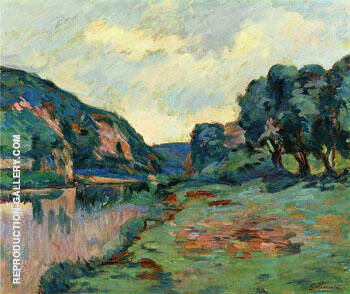 Echo Rock A By Armand Guillaumin - Oil Paintings & Art Reproductions - Reproduction Gallery