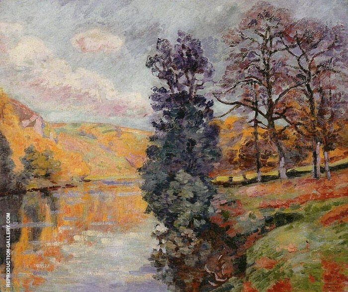 Echo Rock Crozant Painting By Armand Guillaumin - Reproduction Gallery
