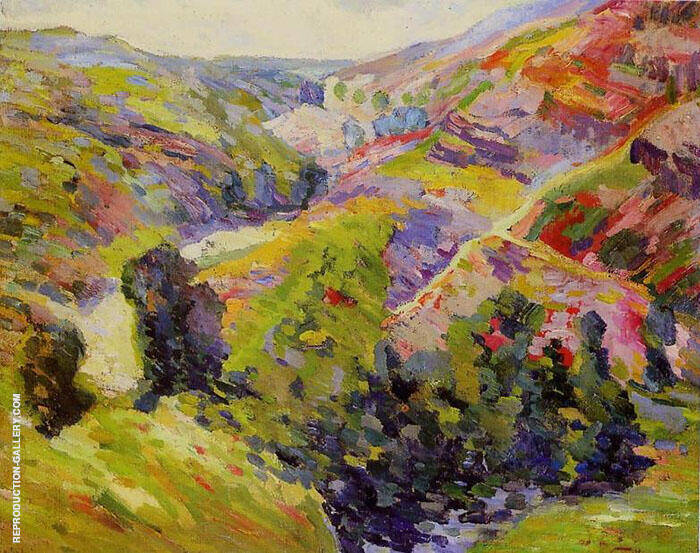 Environs de Crozant By Armand Guillaumin Replica Paintings on Canvas - Reproduction Gallery
