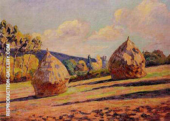 Grainstacks By Armand Guillaumin - Oil Paintings & Art Reproductions - Reproduction Gallery