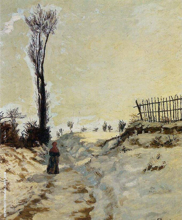 Hohlweg in the Snow 1869 By Armand Guillaumin