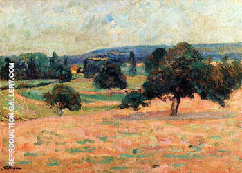 Ile de France Landscape By Armand Guillaumin - Oil Paintings & Art Reproductions - Reproduction Gallery