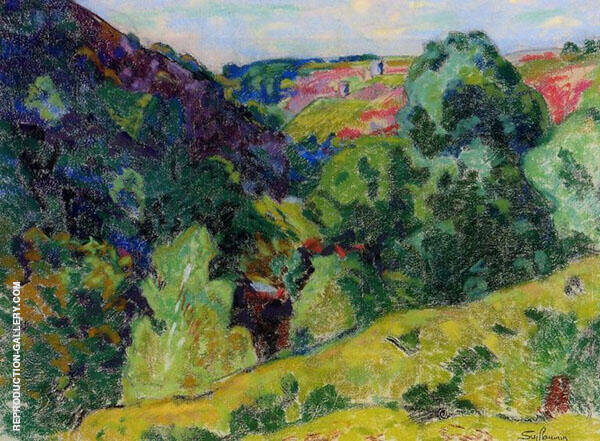 La Creuse Landscape Painting By Armand Guillaumin - Reproduction Gallery