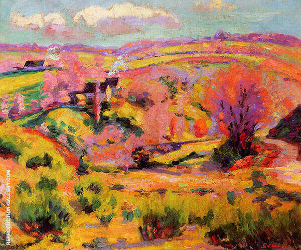 La Creuse Landscape Spring By Armand Guillaumin Replica Paintings on Canvas - Reproduction Gallery