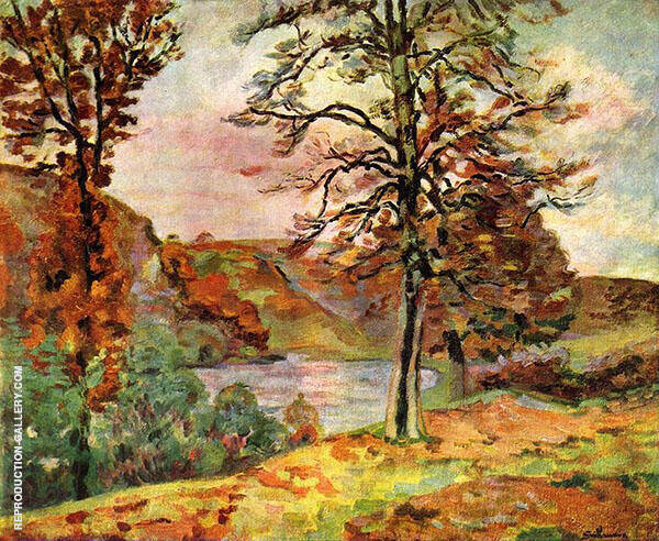 Landscape 1870 Painting By Armand Guillaumin - Reproduction Gallery