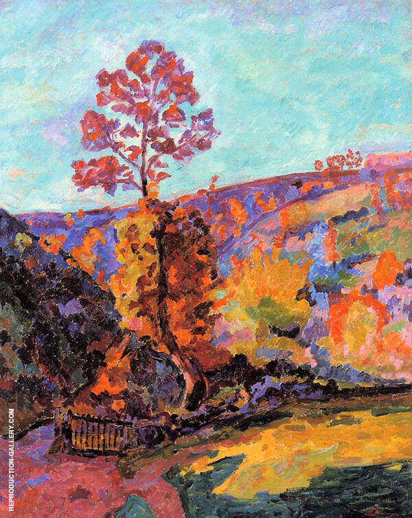 Landscape at Crozant By Armand Guillaumin Replica Paintings on Canvas - Reproduction Gallery