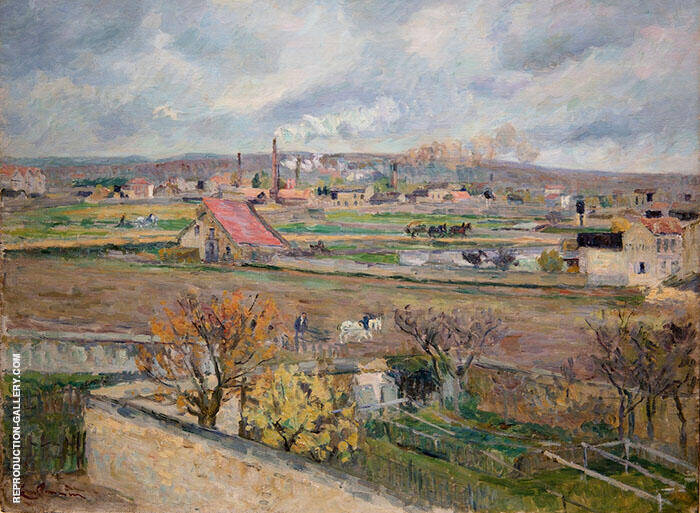Landscape Ile de France Front By Armand Guillaumin Replica Paintings on Canvas - Reproduction Gallery