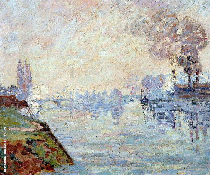 Landscape in the Vicinity of Rouen By Armand Guillaumin Replica Paintings on Canvas - Reproduction Gallery