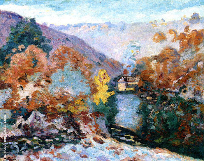 Landscape La Folie By Armand Guillaumin Replica Paintings on Canvas - Reproduction Gallery