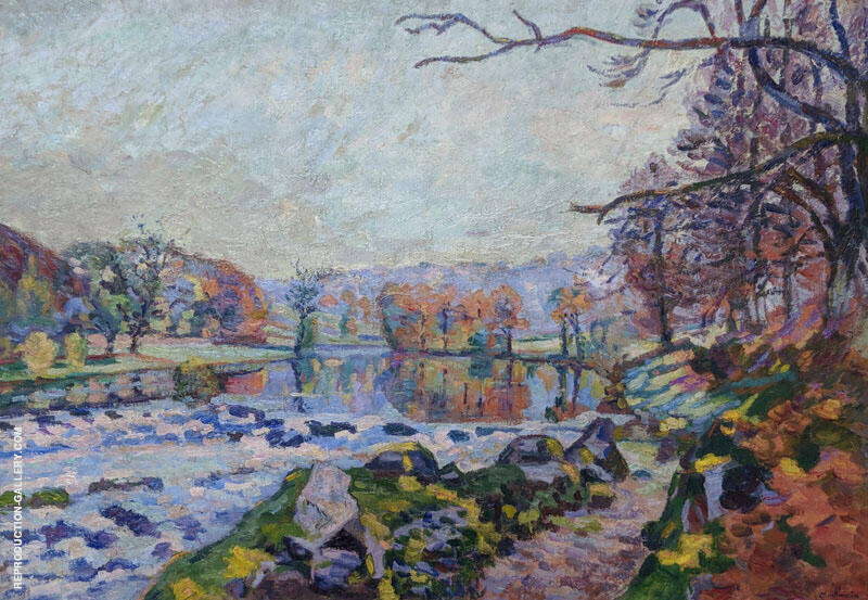 Landscape near the Creuse By Armand Guillaumin Replica Paintings on Canvas - Reproduction Gallery