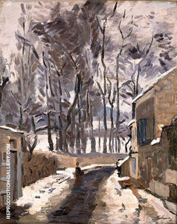 Landscape of Louveciennes By Armand Guillaumin - Oil Paintings & Art Reproductions - Reproduction Gallery