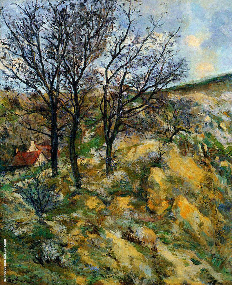 Landscape with Red Roofs By Armand Guillaumin Replica Paintings on Canvas - Reproduction Gallery