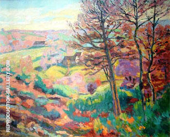 Landscape with Tree By Armand Guillaumin Replica Paintings on Canvas - Reproduction Gallery