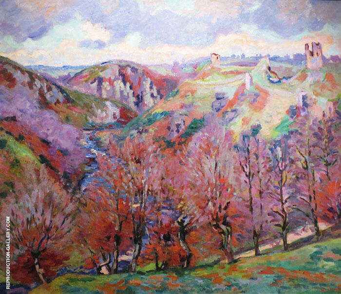 Landscape with Ruins By Armand Guillaumin Replica Paintings on Canvas - Reproduction Gallery