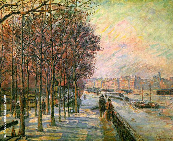 La Place Valhubert 1875 By Armand Guillaumin Replica Paintings on Canvas - Reproduction Gallery