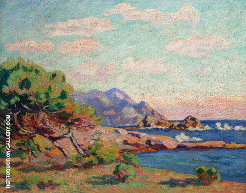 La Pointe du Lou Gaou By Armand Guillaumin Replica Paintings on Canvas - Reproduction Gallery