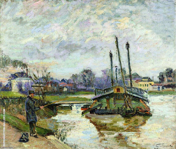 Laundry Boat at Charenton c1880 Painting By Armand Guillaumin