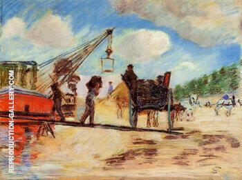 Le Charrois au Bord de La Seine Painting By Armand Guillaumin