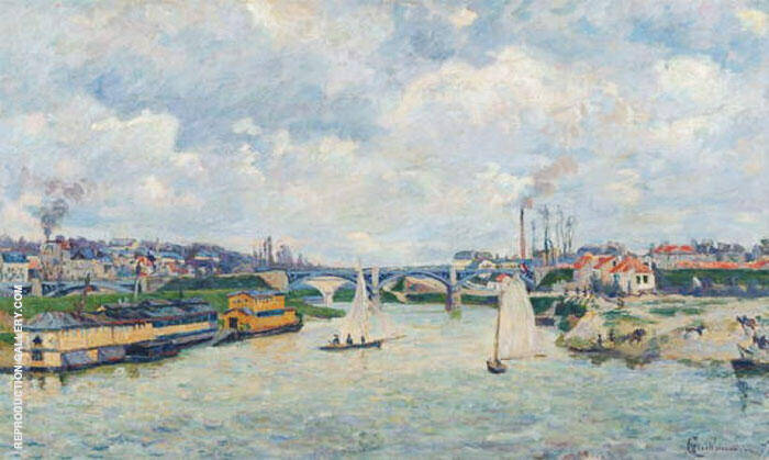 Le Port de Charenton 1878 Painting By Armand Guillaumin