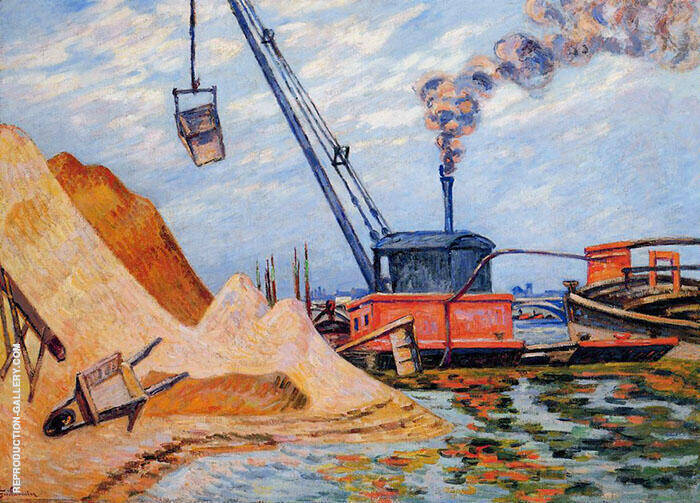 Le Quai d'Austerlitz 1899 Painting By Armand Guillaumin
