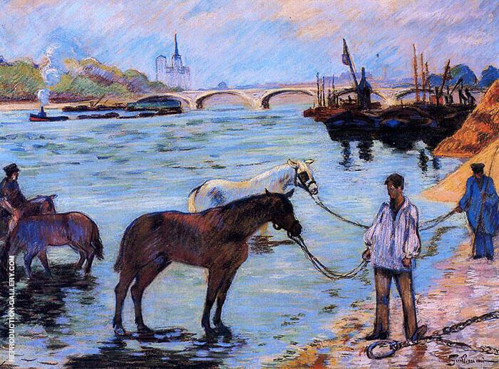 Le Quai de Bercy c1885 Painting By Armand Guillaumin