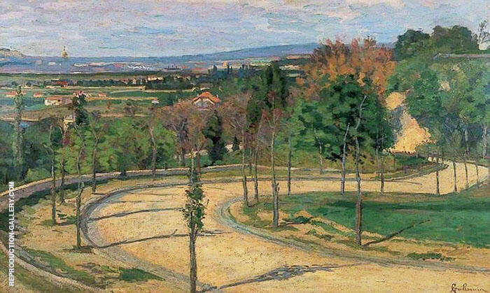 Les Environs de Paris c1873 By Armand Guillaumin Replica Paintings on Canvas - Reproduction Gallery