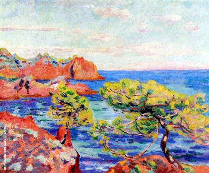 Le Trayas c1907 Painting By Armand Guillaumin - Reproduction Gallery