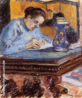 Madame Guillaumin 1892 A By Armand Guillaumin - Oil Paintings & Art Reproductions - Reproduction Gallery