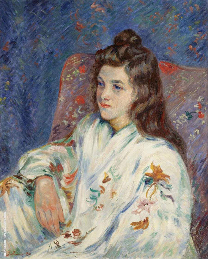 Mademoiselle Guillaumin 1901 Painting By Armand Guillaumin