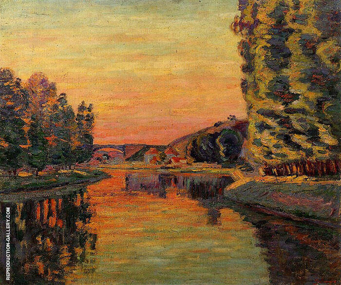 Moret July 1902 Painting By Armand Guillaumin - Reproduction Gallery