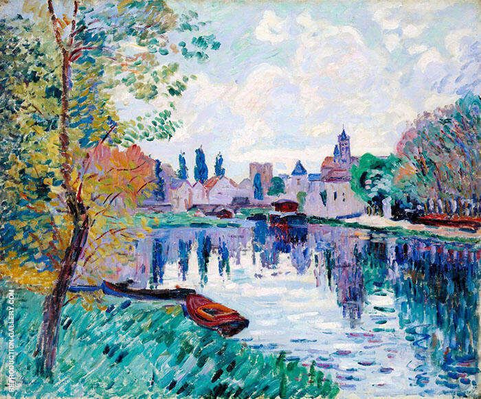 Moret Sur Loing By Armand Guillaumin Replica Paintings on Canvas - Reproduction Gallery
