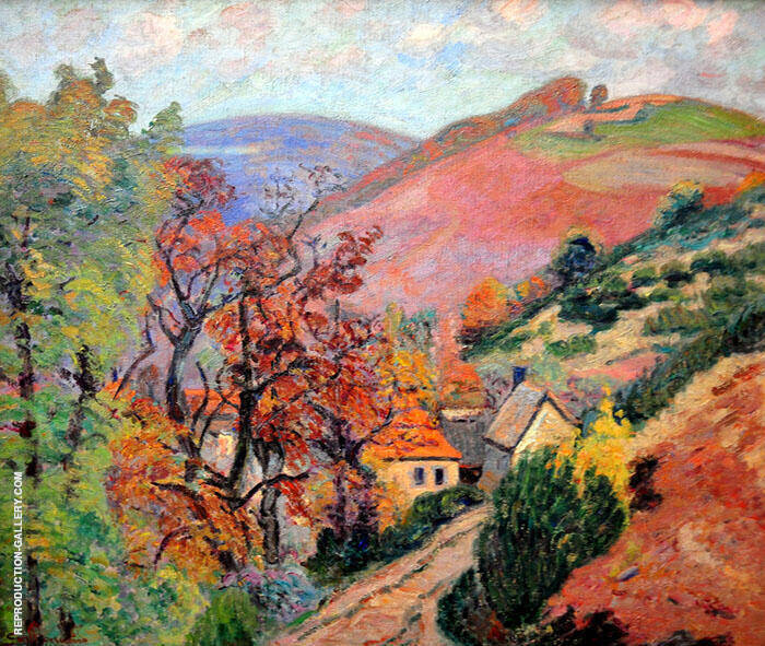 Mountain Landscape 1895 By Armand Guillaumin Replica Paintings on Canvas - Reproduction Gallery