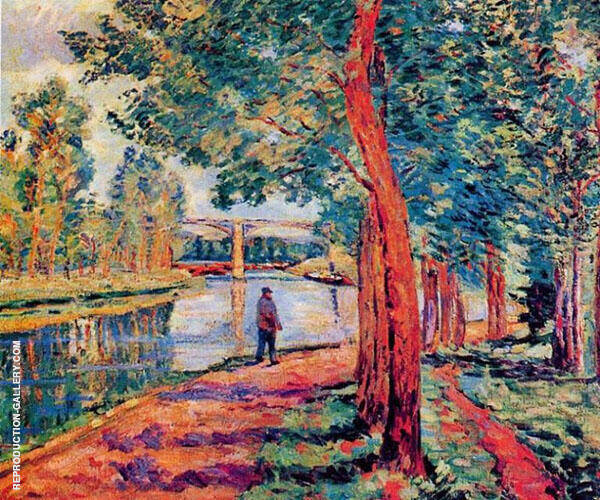 Near Moret 1902 Painting By Armand Guillaumin - Reproduction Gallery
