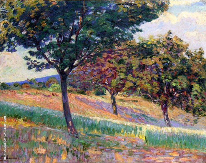 Orchard at the Edge of the Woods in Saint Cheron Painting By ...