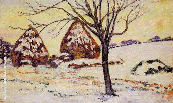 Palaiseau Snow Effect 1883 Painting By Armand Guillaumin