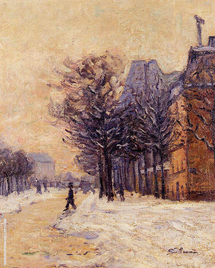 Passers by in Paris in Winter 1888 Painting By Armand Guillaumin