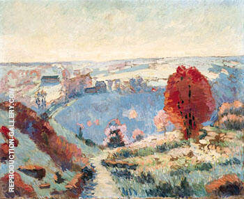 Paysage Dautomne By Armand Guillaumin - Oil Paintings & Art Reproductions - Reproduction Gallery