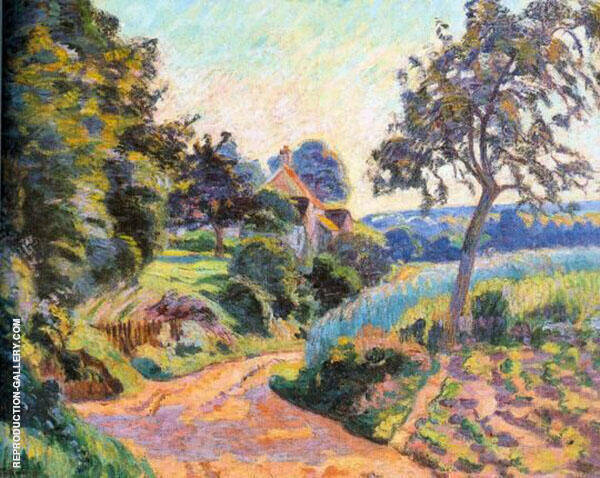 Paysage de Ile de France 1888 By Armand Guillaumin Replica Paintings on Canvas - Reproduction Gallery