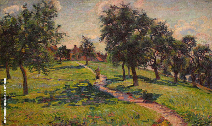 Paysage en Normandie Les Pommiers 1887 Painting By Armand Guillaumin