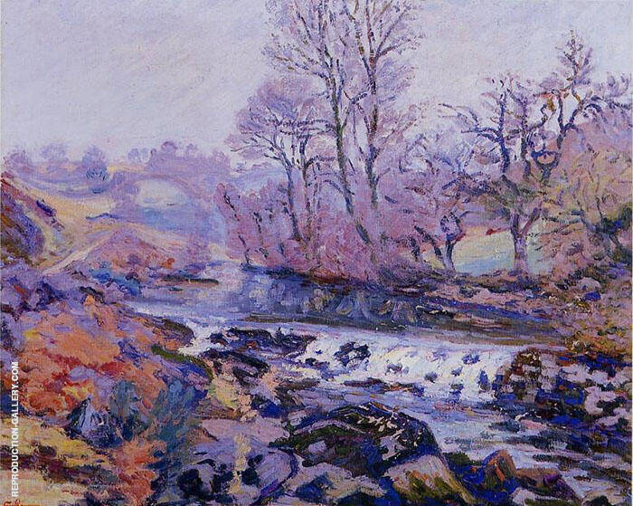 Pont Charraut Matin Painting By Armand Guillaumin - Reproduction Gallery
