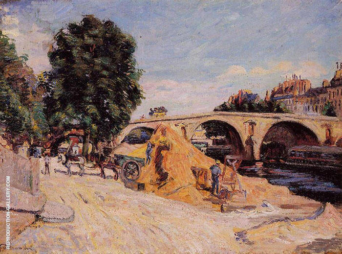 Pont Marie From the Quai d'Anjou 1883 By Armand Guillaumin Replica Paintings on Canvas - Reproduction Gallery